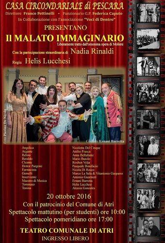 Il malato immaginario il 20 ottobre doppio appuntamento al teatro comunale di Atri