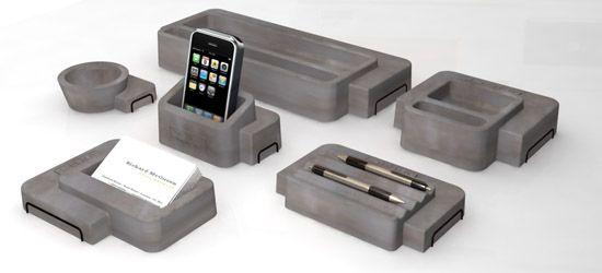 Concrete Desk Organisers By Umamy Concrete Pinterest