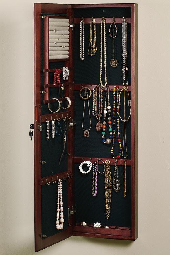 Wall-Mount Jewelry Cabinet - Mirror - Jewelry Organizer - Wall Decor |  HomeDecorators. - Wall-Mount Jewelry Cabinet - Mirror - Jewelry Organizer - Wall