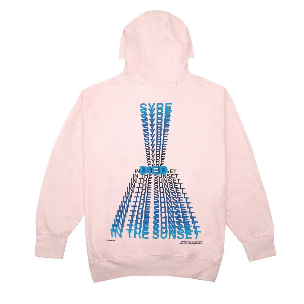 syre died hoodie  pink