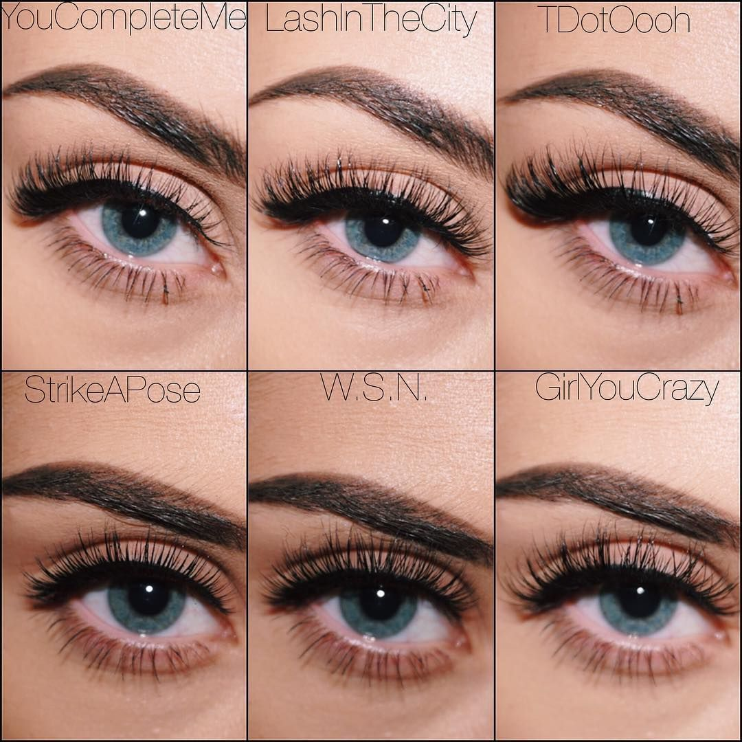 7d3616f70f4 VELOUR LASHES // The bottom row are some of Velour's popular ROUND lashes,  they