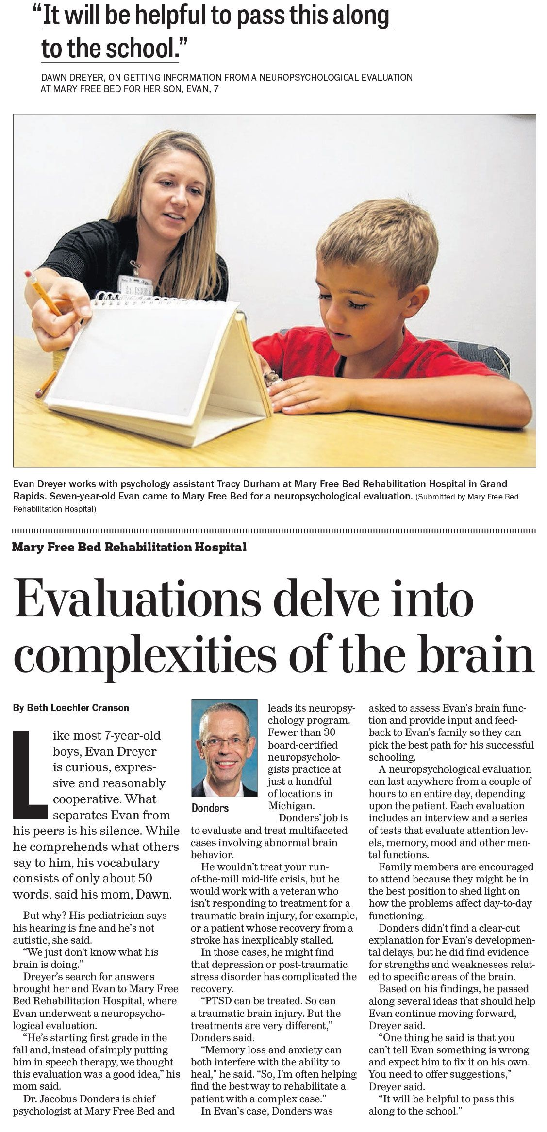 Neuropsychology can help people of all ages. Via @mlivedotcom @grpress