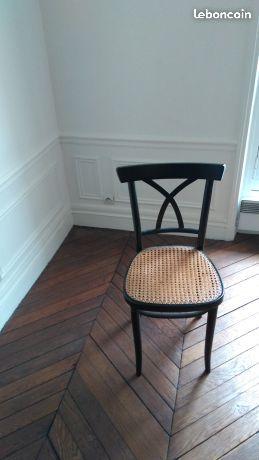 chaise cannee noire ameublement paris