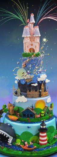 Disneyland cake. Increible!