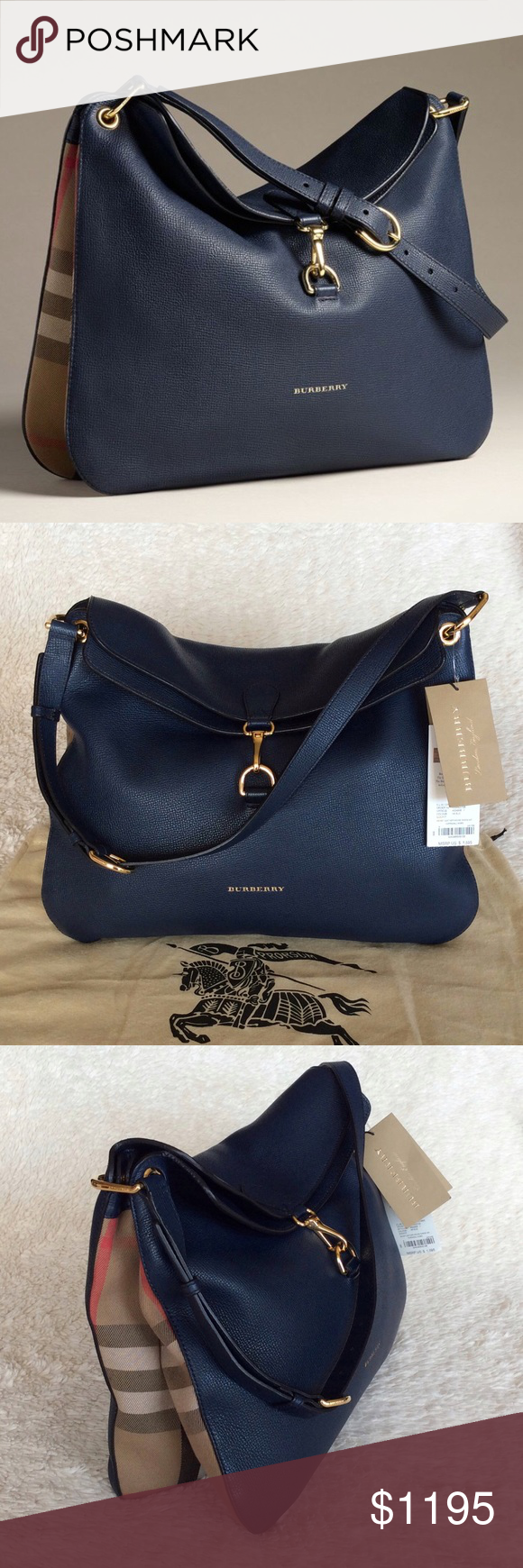 65dd9df8390a NEW BURBERRY CORNWALL SHOULDER BAG BLUE INK Authentic. Brand new with tags  and dust