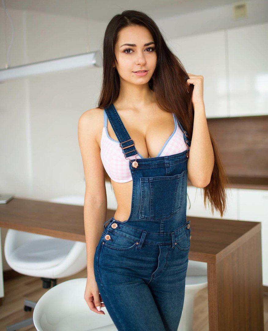 brunette cutie in overalls #viralsexypic | sexy but not porn