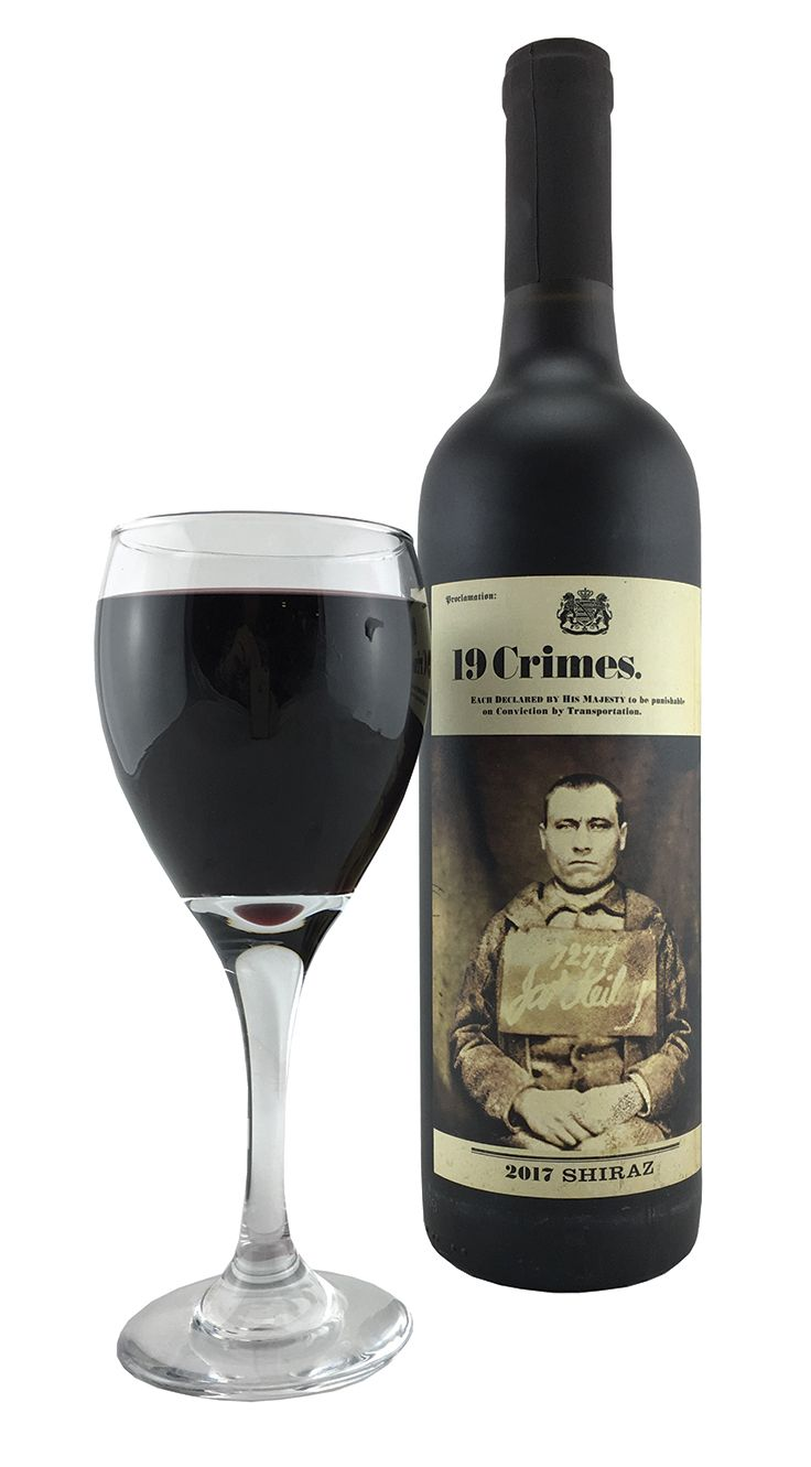 MY FAIR LADY's featured wine is this 19 Crimes Red Blend