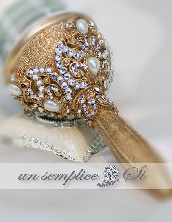 Gold Brooch Bouquet Holder In 2018 Pinterest Bouquets And