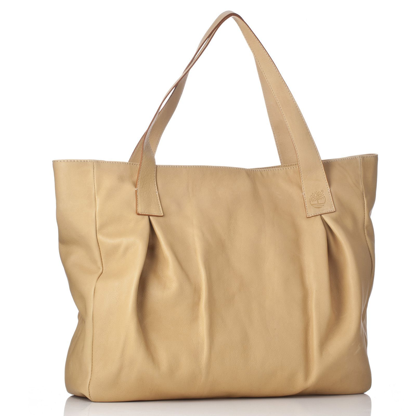 Timberland  Yellow Leather Pleated Bag