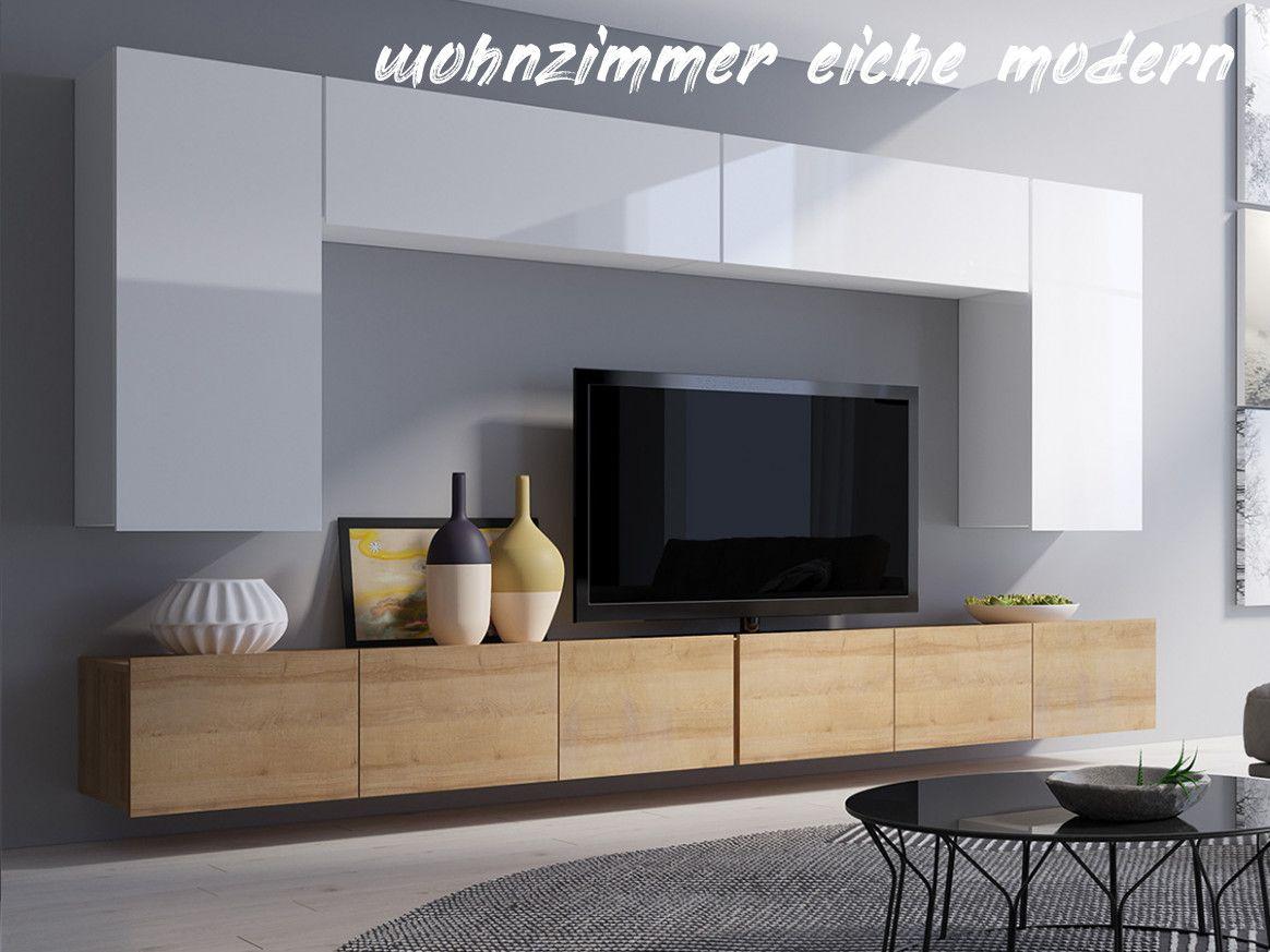 6 Wohnzimmer Eiche Modern in 6  Home, Home decor, House plans