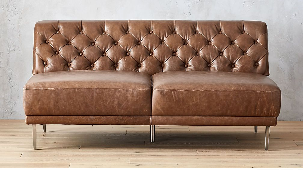 Surprising Savile Dark Saddle Leather Tufted Armless Sofa In 2019 Download Free Architecture Designs Scobabritishbridgeorg