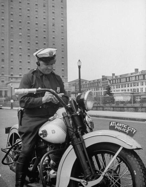 Motorcycle Policeman Atlantic City Police Motors Pinterest
