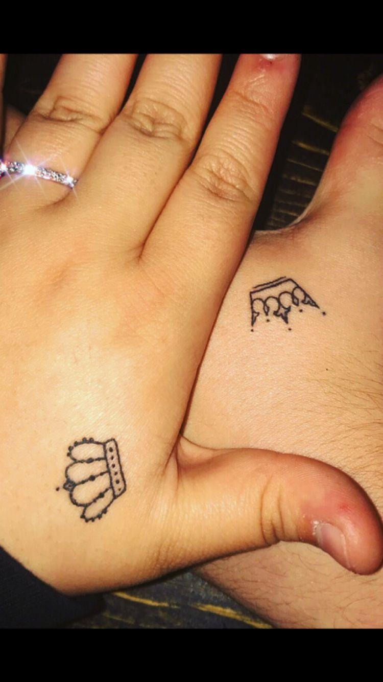 Pin By Samantha Fabiani On Tattoo Ideas Crown Tattoos For Women Matching Tattoos Couple Tattoos