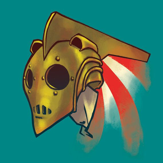 Rocketeer Print 12x12 By Youfoundjacob On Etsy