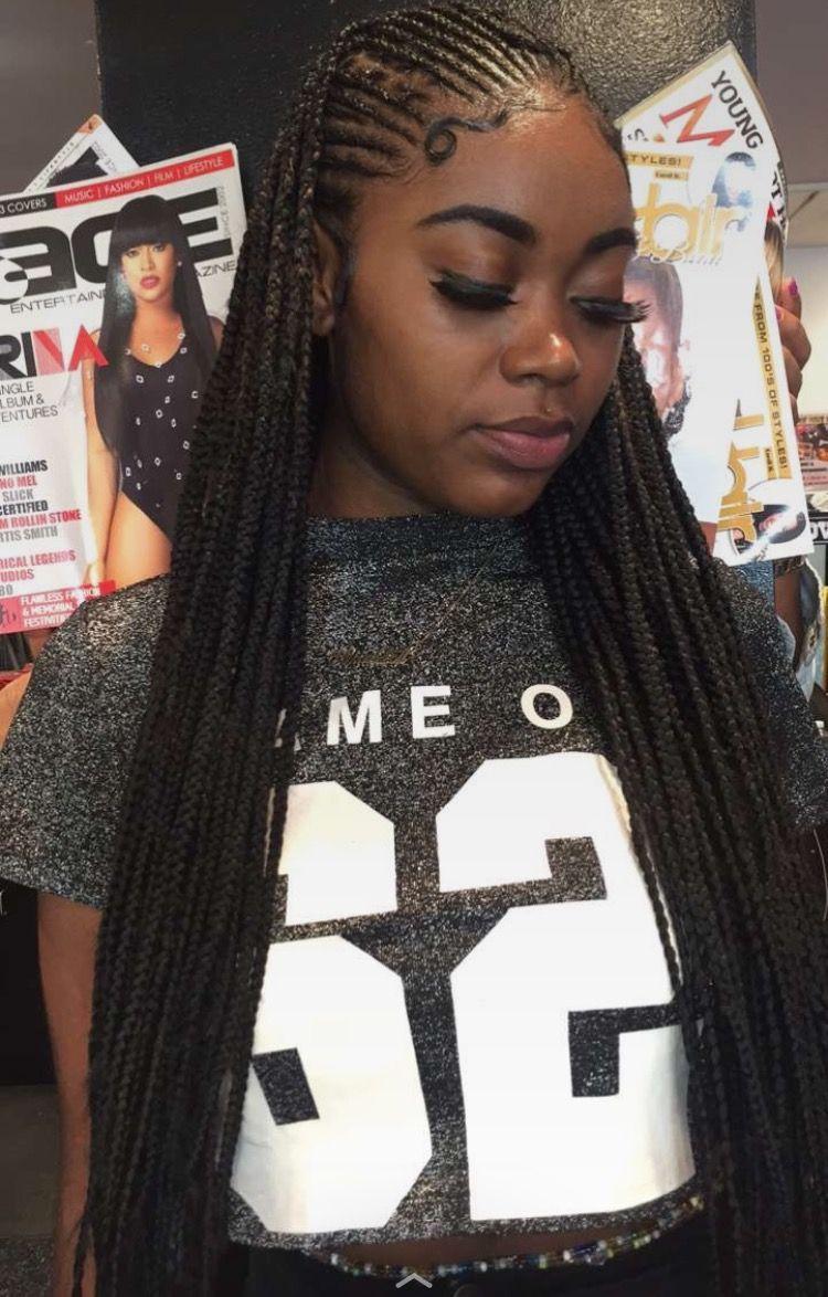 Cool 101 Best Black Braided Hairstyles 2017 Https Fazhion Co 2017 05 23 101 Best Black Braided Hairstyle Hair Styles Braids For Black Hair Braided Hairstyles