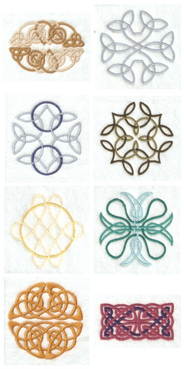 Celtic Knots Embroidery Machine Design Details - Potential monogram ...