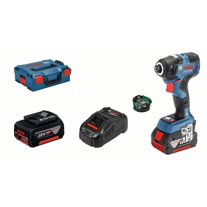 Bosch Batterie-chocs GDR 18v-200 C 2x 5,0-ah Batteries Chargeur DANS L-Boxx