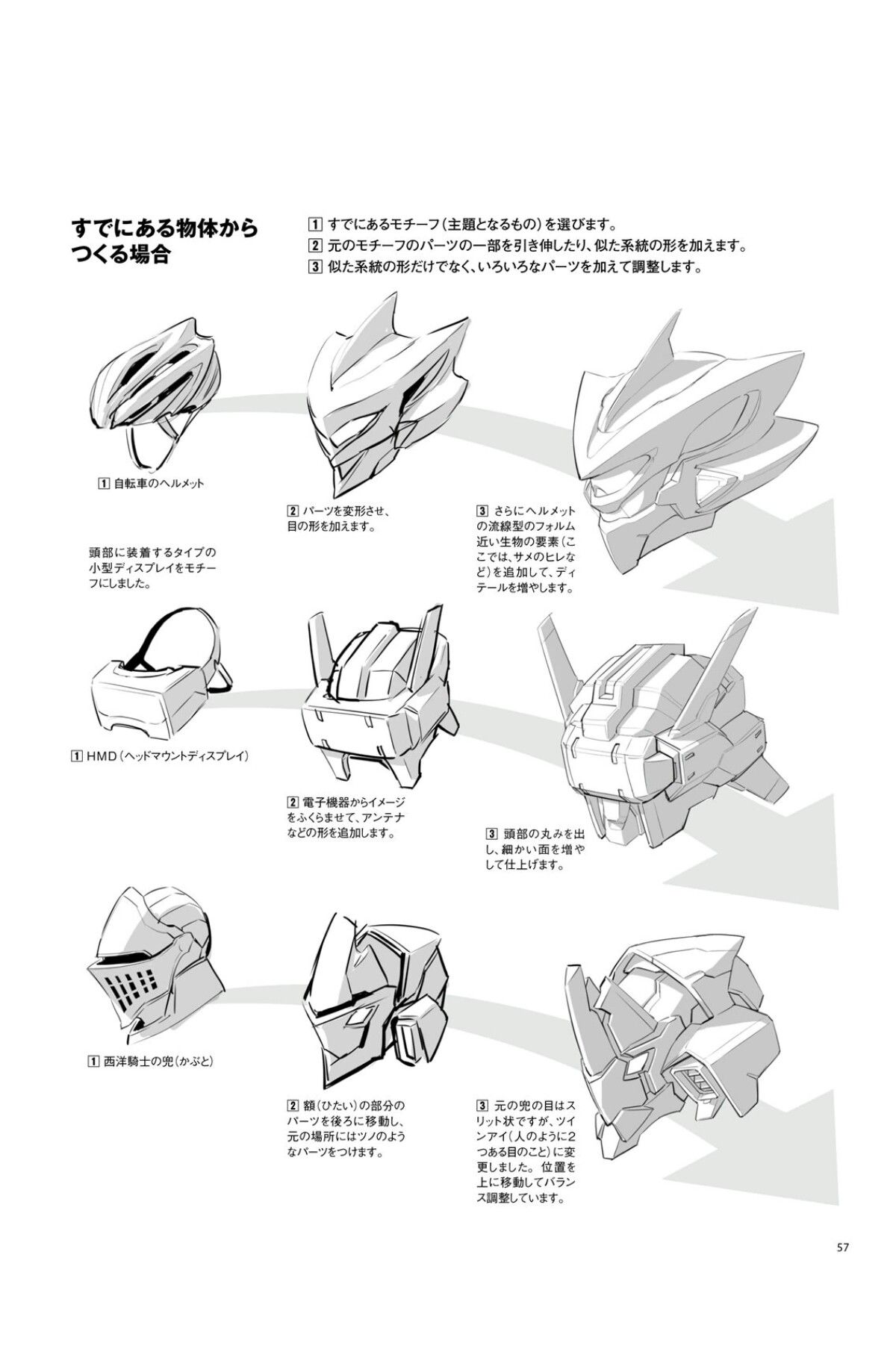 ロボットを描く基本 箱ロボからオリジナルロボまで Page 57 Robots Drawing Robot Concept Art Robots Concept