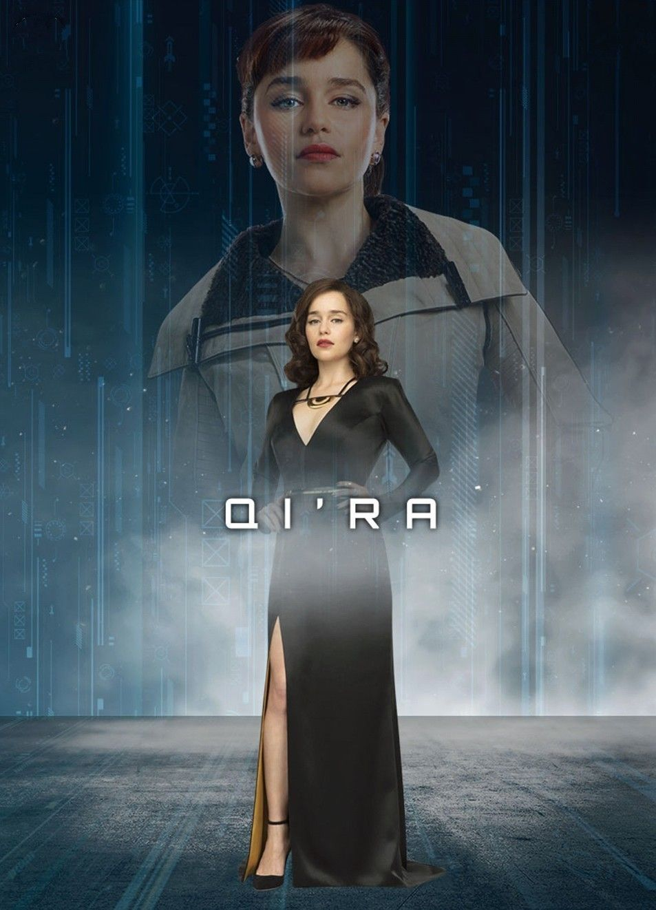 Awesome Dual Portrait Of Qi Ra From Solo A Star Wars Story Starwars Qira Emiliaclarke Soloastarwarss Star Wars Awesome Star Wars Movie Star Wars Han Solo