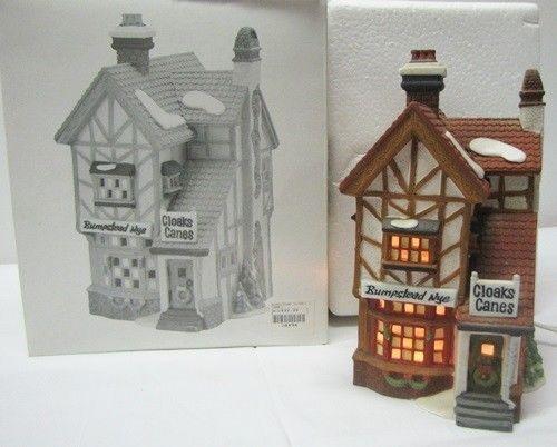 Dept 56 BUMPSTEAD NYE CLOAKS & CANES 5808-4 Heritage Village HP Porcelain - EBay price $49.99 + $9.99 S/H