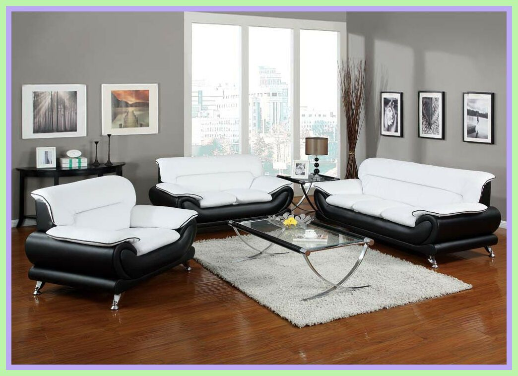 72 Reference Of Leather Sofa White And Black In 2020 Living Room Leather Modern Living Room Black Modern White Sofa