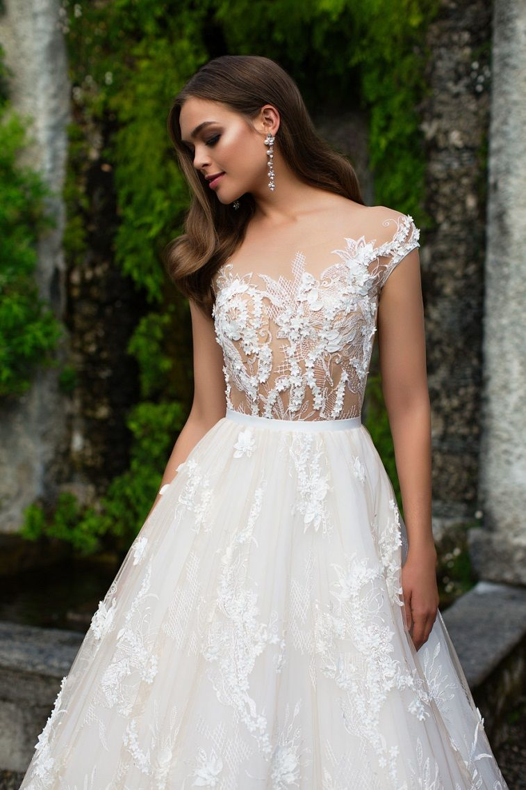 Stunning Cap Sleeves Wedding Dress