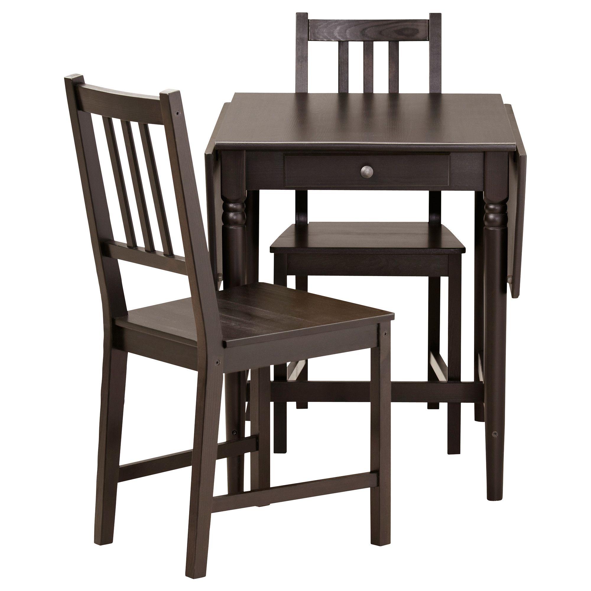 Ingatorp  Stefan Table And 2 Chairs Blackbrown  Apartments Unique Small Dining Room Sets Ikea Inspiration Design