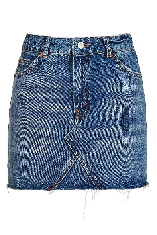eb9545846e MOTO Denim High Waist Pelmet Skirt - Skirts - Clothing - Topshop USA High  Waisted Denim