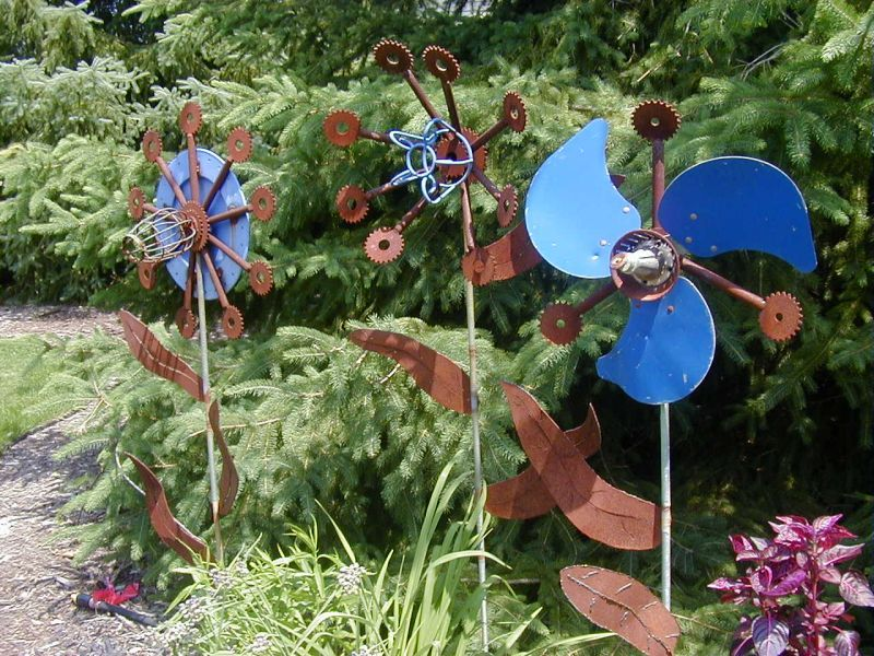 Garden Yard Art Ideas welded artyard artgarden junkgarden artgarden sculpturewhimsical Fan Blade Idea Pictures Landscaping Ideas Garden Ideas Art In The Garden