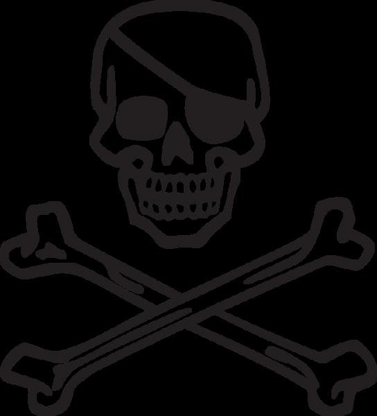 372ca Skull And Bones With Eye Patch Skull And Bones Skull And Crossbones Eyepatch
