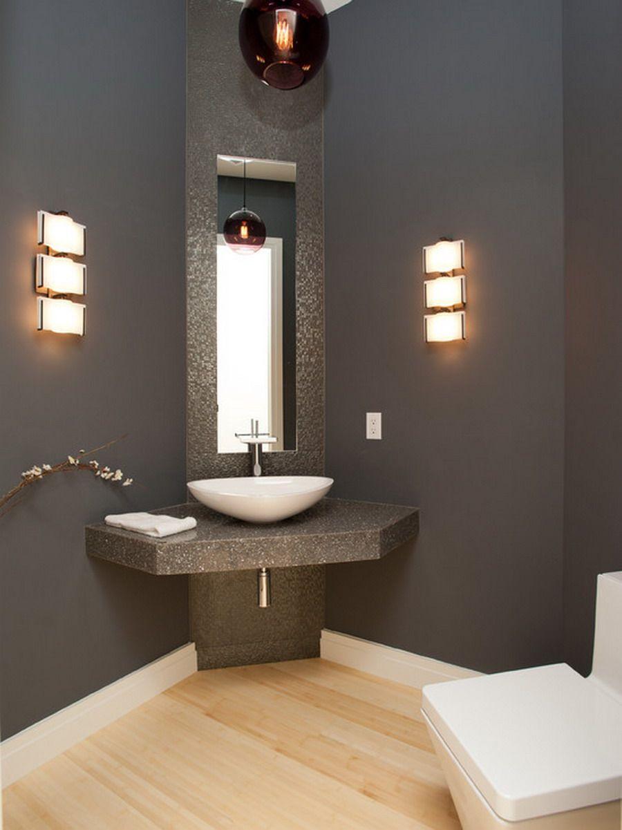 Appealing Design Of Corner Bathroom Vanity With White Bowl Sink