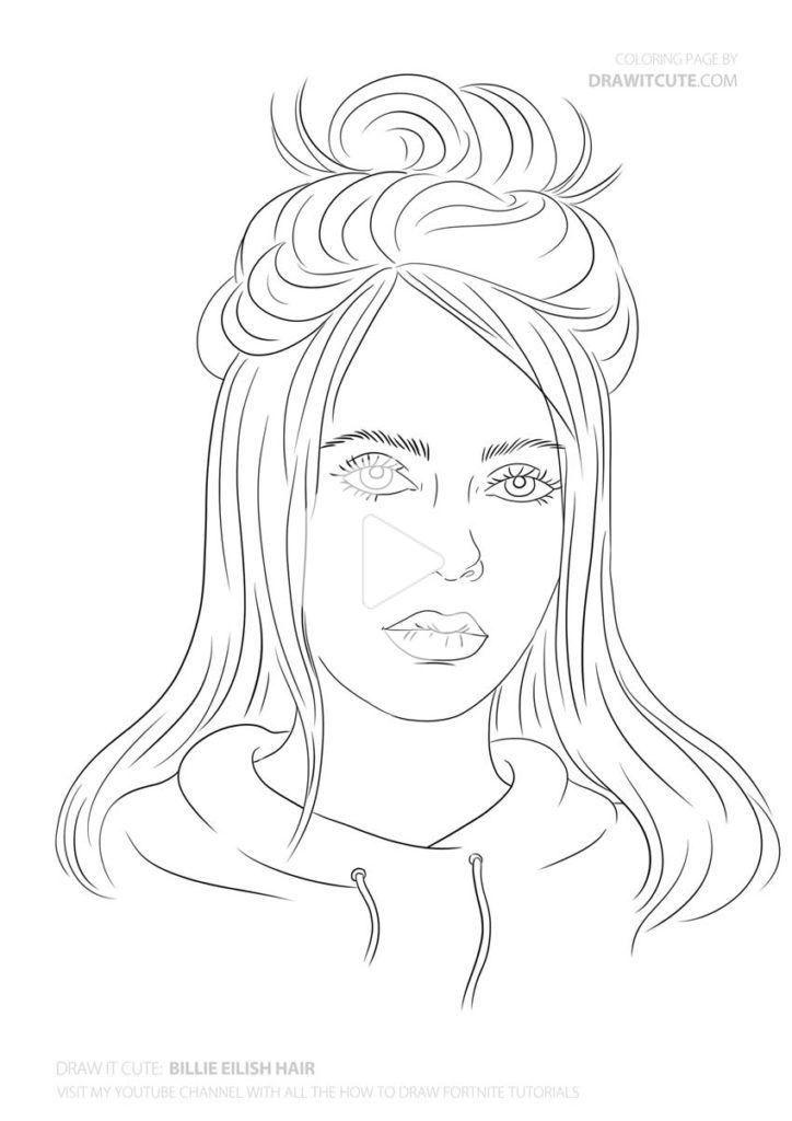 How To Draw Billie Eilish Hair Step By Step Drawing Tutorial Draw It Cute Billieeilish In 2020 Drawing Tutorial Easy Drawings Billie Eilish