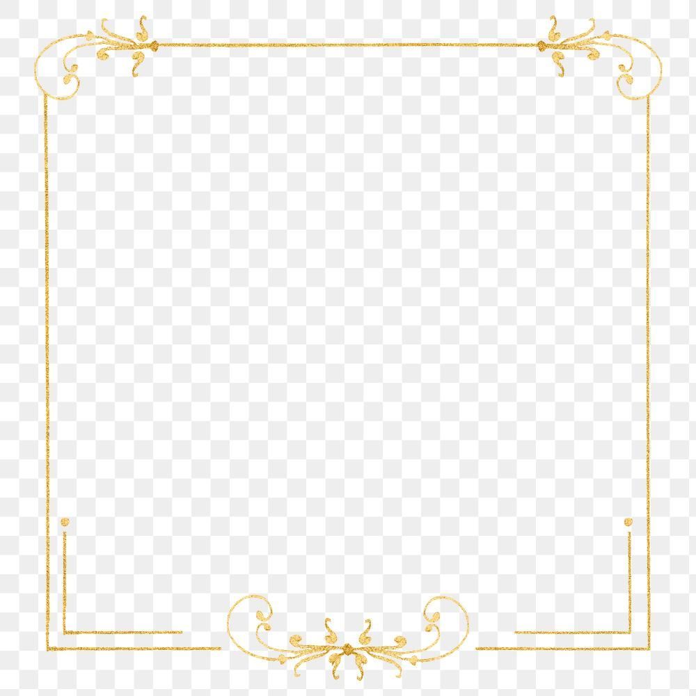 Gold Filigree Frame Border Png Free Image By Rawpixel Com Hwangmangjoo Antique Artwork Png Gold Filigree