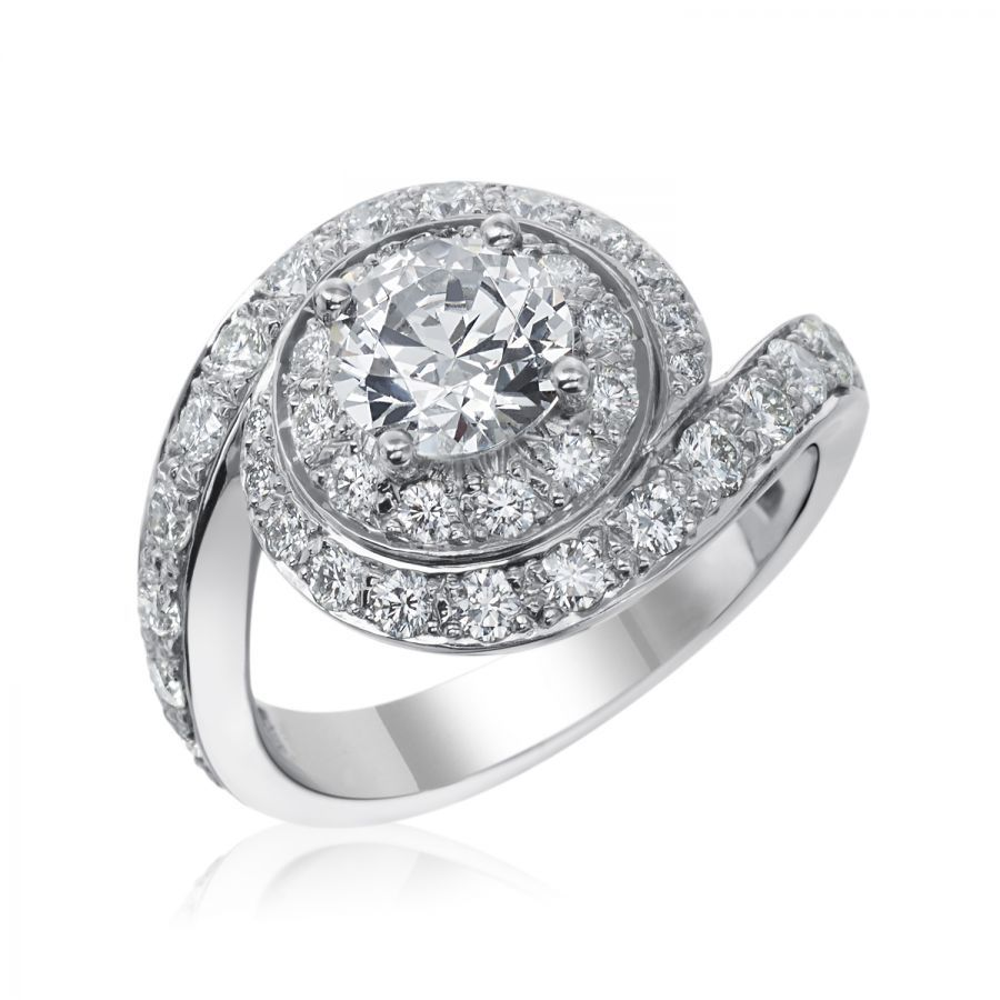 Diamond Swirl Engagement Ring By Gumuchian Swirl Engagement Rings Diamond Swirl Swirl Ring