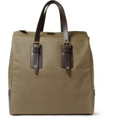 906238b9860 Belstaff Dorchester Leather-Trimmed Waxed-Cotton Tote Bag | Mens ...
