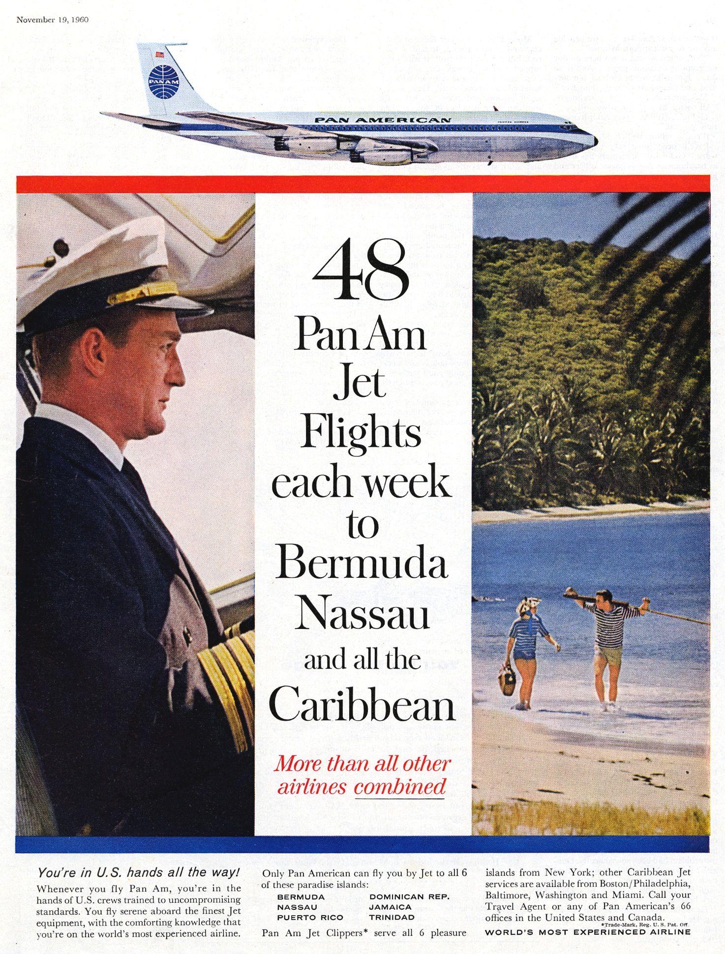 advertisement Pan American World Airways, Saturday