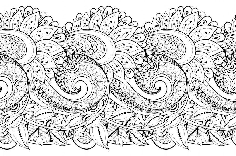 Floral Pattern 2 Doodle - Doodle is Art