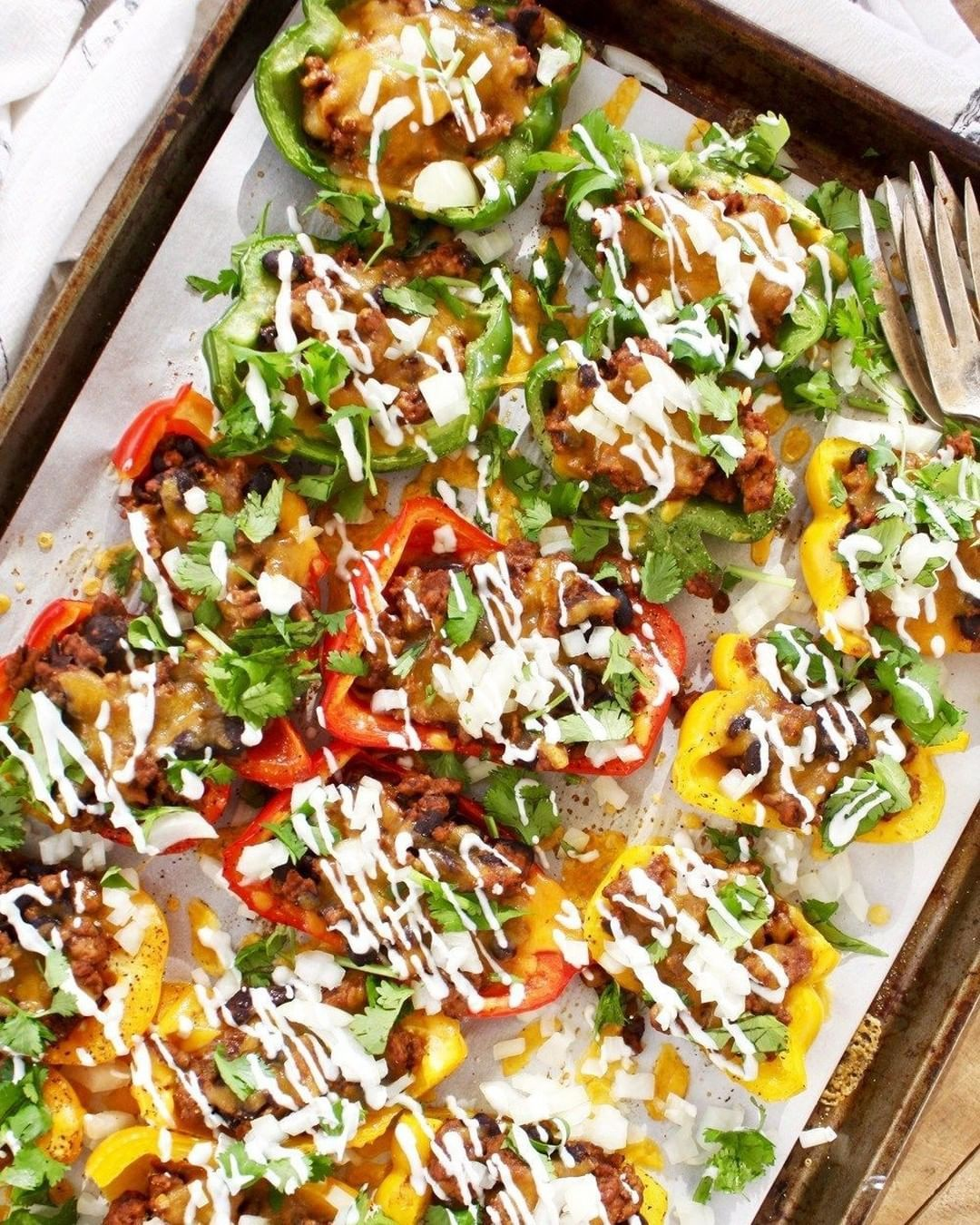 garlicdiaries posted to instagram these turkey and black bean bell pepper nachos are so satisfying when stuffed peppers stuffed bell peppers healthy recipes pinterest