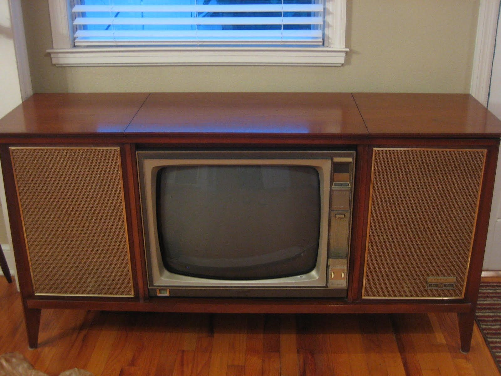 antique tv console vintage television console vintage. Black Bedroom Furniture Sets. Home Design Ideas