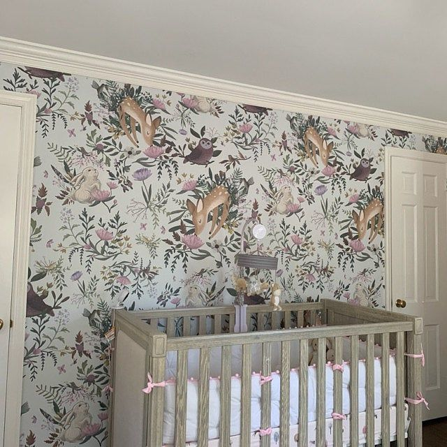 Magnolia Wallpaper Chinoiserie Retro Wallpaper Deer