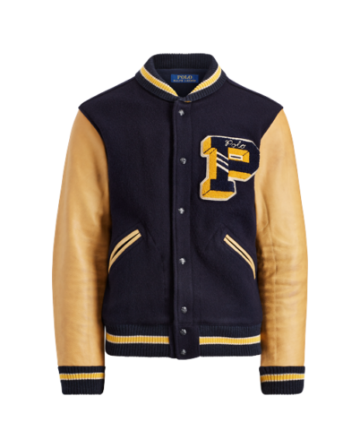 ffa3dc9f Polo-Ralph-Lauren-Men-Wool-Leather-Letterman-P-Baseball-Bomber ...