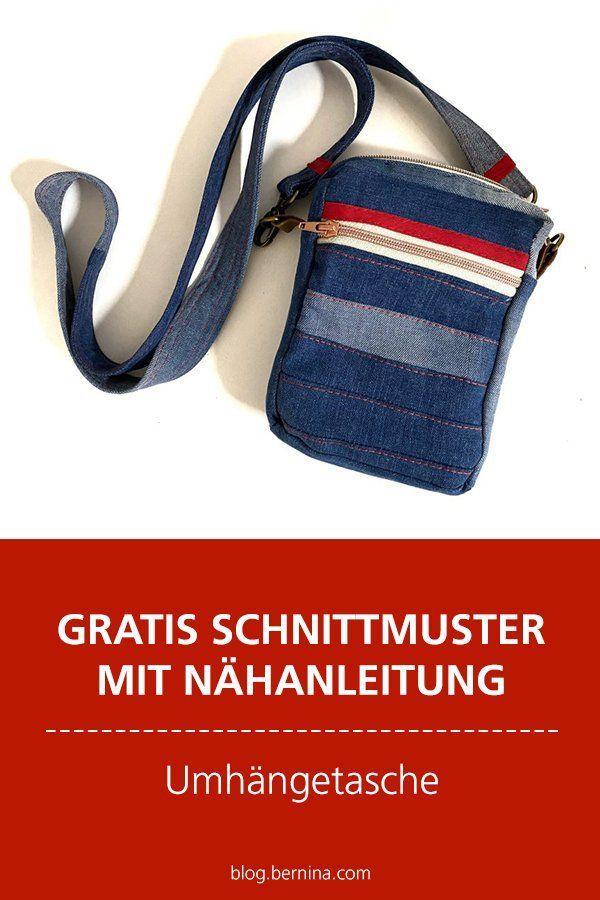 Patrones e instrucciones de costura gratuitos: coser un bolso de hombro con cremallera  – Bolsa