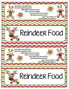 Reindeer food letter from santa and bag toppers reindeer food reindeer food letter from santa and bag toppers spiritdancerdesigns Choice Image
