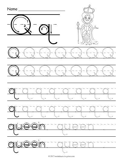 Free Printable Tracing Letter Q Worksheet Tracing Worksheets Preschool Letter Tracing Printables Letter Q Worksheets