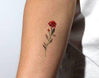 Lotus Flower Temporary Tattoo By Lena Fedchenko (Set of 3)