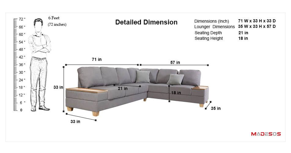 useful standard dimensions for home furniture
