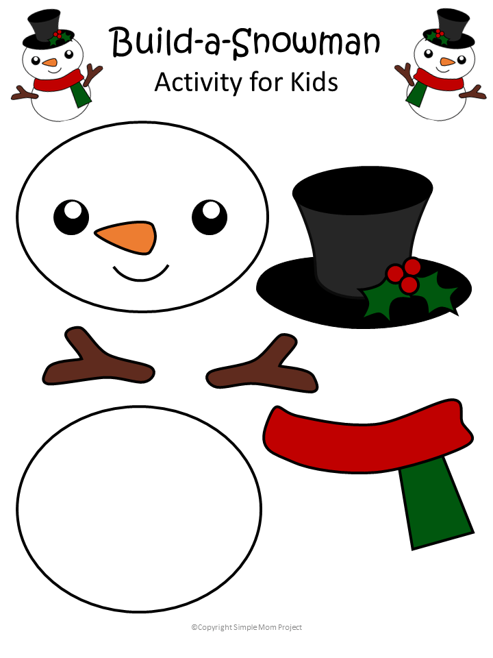 Printable Snowman Craft With Free Template Winter Crafts For Kids Preschool Christmas Diy Christmas Ornaments