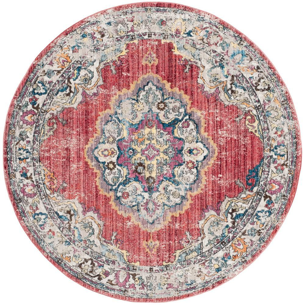 Safavieh Bristol Rose Light Gray 7 Ft X 7 Ft Round Area Rug