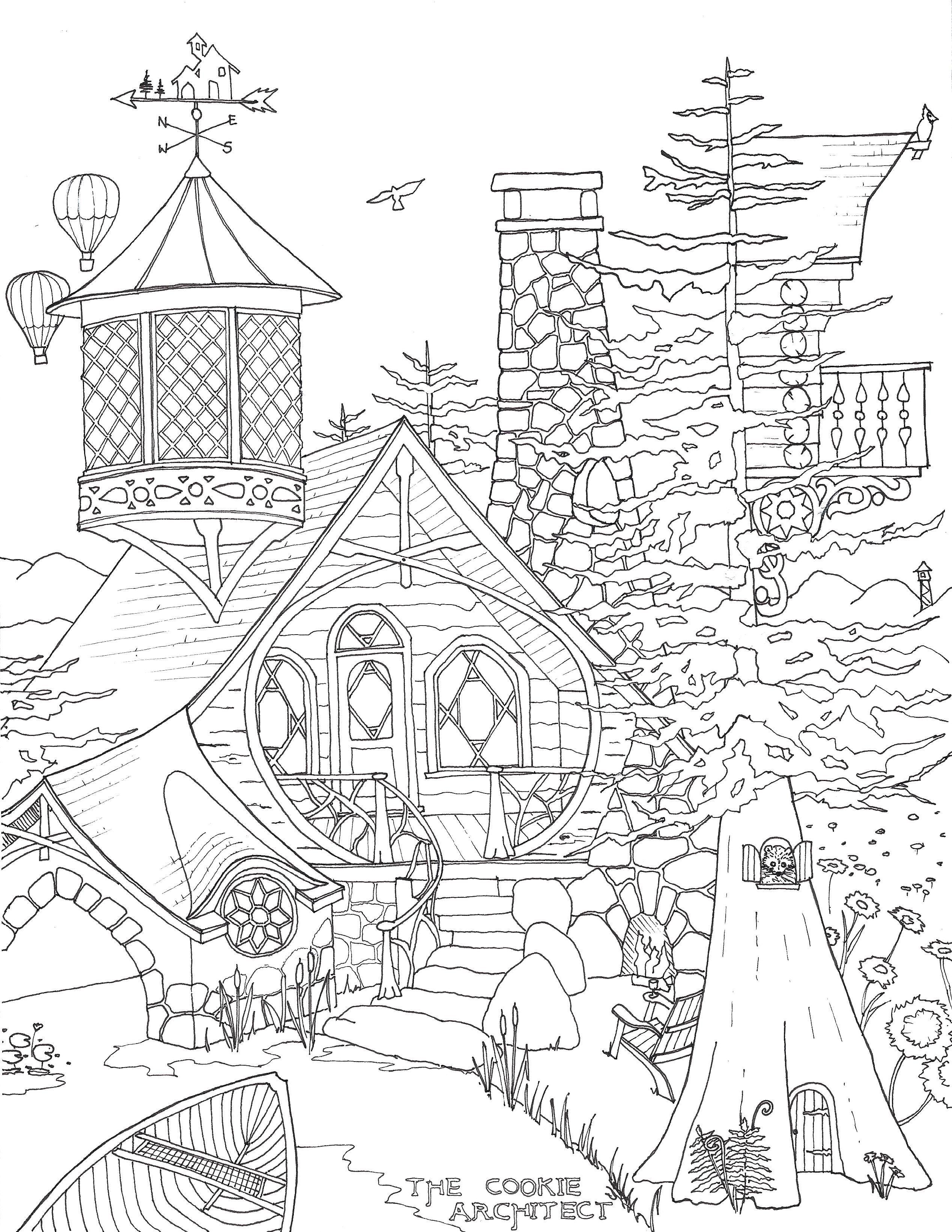 Adirondack Dreaming Coloring Page