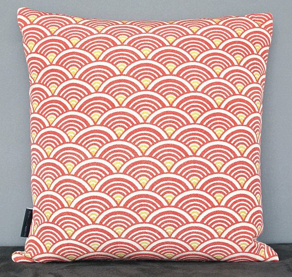 Double Sided Decorative Pillow Cushion in hand painted Maple